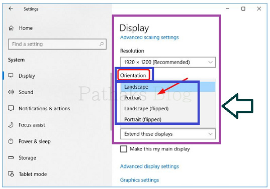 How To Flip a Computer Screen,landscape display setting, anil pathak, pathaks blog