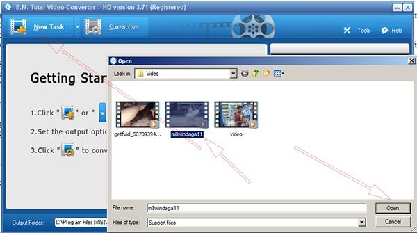 Cách sử dụng Total Video Converter 3.71 Full để đổi đuôi video   a