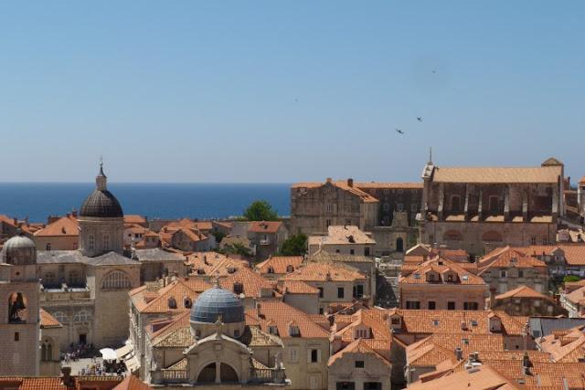 Dubrovnik, gezicht vanaf de stadsmuur