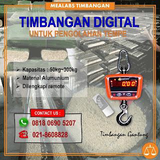 Timbangan Gantung Digital untuk pengolahan tempe