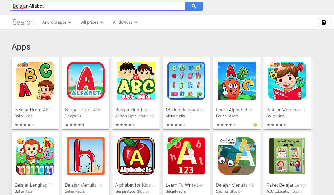 5. Aplikasi Edukasi Belajar Alfabet