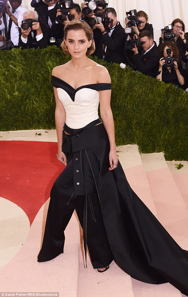 Emma Watson bares skin at the Met Gala 2016