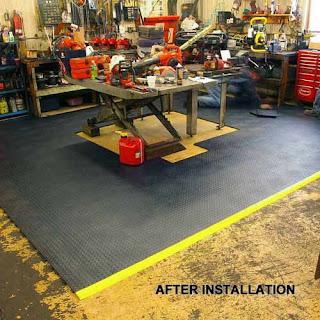 Greatmats Staylock Bump Top Tile Workshop Floor