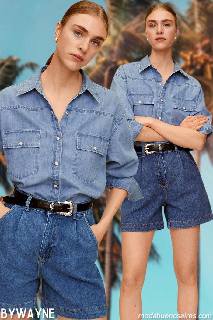 Camisas de mujer denim primavera verano 2021