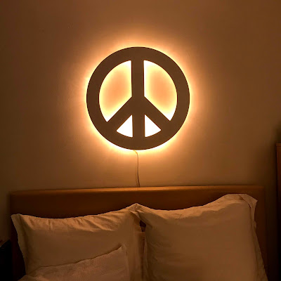 selfcare routine-pb teen peace sign light
