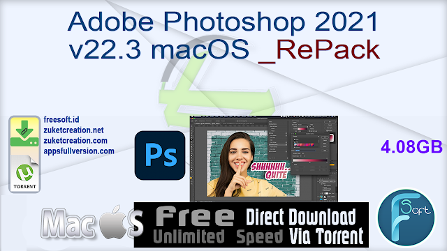 Adobe Photoshop 2021 v22.3 macOS RePack