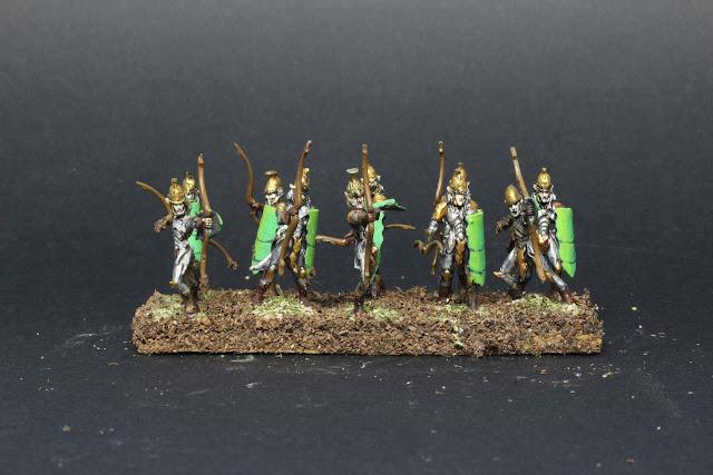 l'armée des elfes du jeu King of war. Archers de la Lignée.