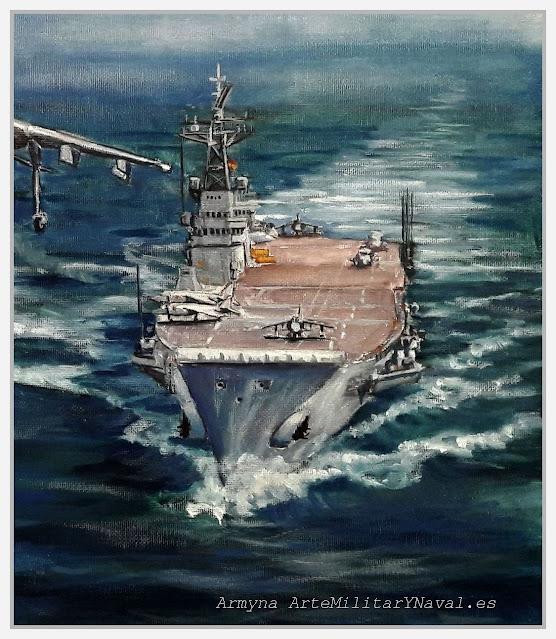 Óleo portaaviones Príncipe de Asturias
