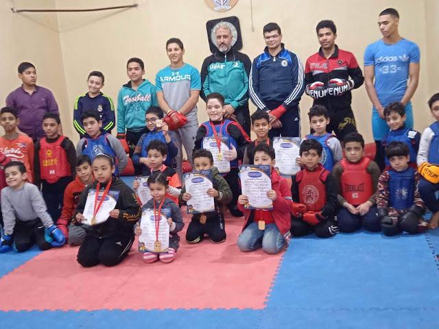 عبد الرحمن راضى يحصل على المركز الاول غربية فى لعبة الوشوو كونغ فو