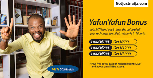 MTN YafunYafun SIM Offer, Get 3GB For 1000 Naira And More