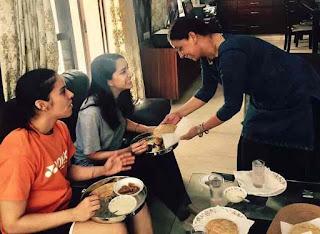 Shraddha Kapoor at Saina Nehwal's house