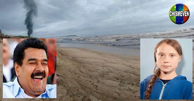 Greta muy molesta por la poca información sobre el Derrame en Morocoy