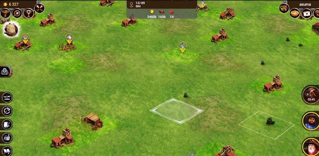 Mapa del juego y parcelas en Prospectors
