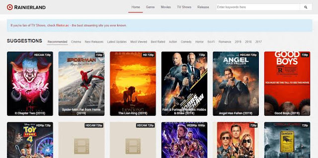 rainierland Hollywood Dubbed in Hindi, Bollywood Movies Download & New Domain Link