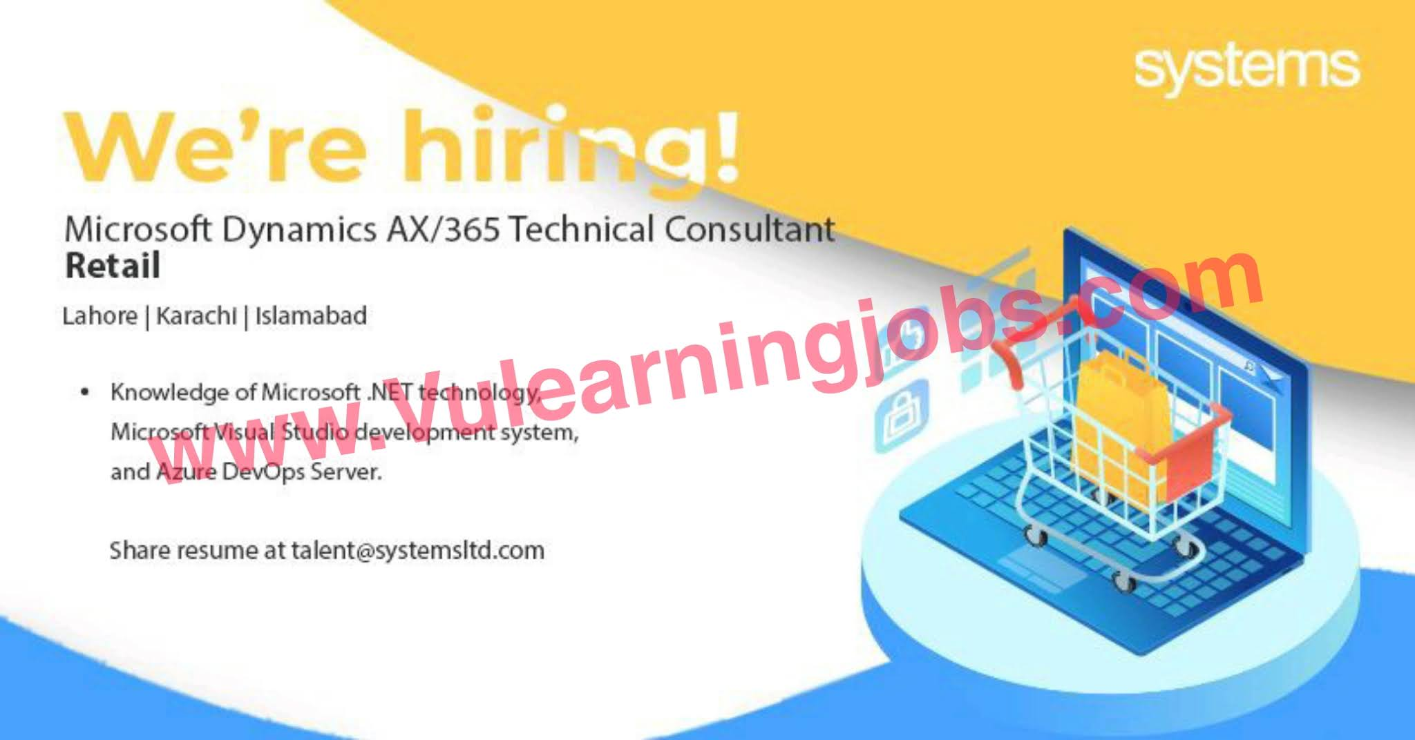 Systems Limited Jobs July 2021 Microsoft Dynamics AX/365 Technical Consultant Retail