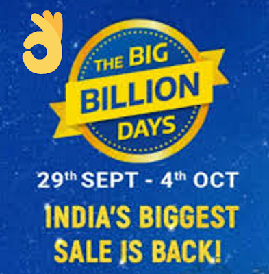 Flipkart Big Billion Days Sale 29-Sep to 4th October-2019