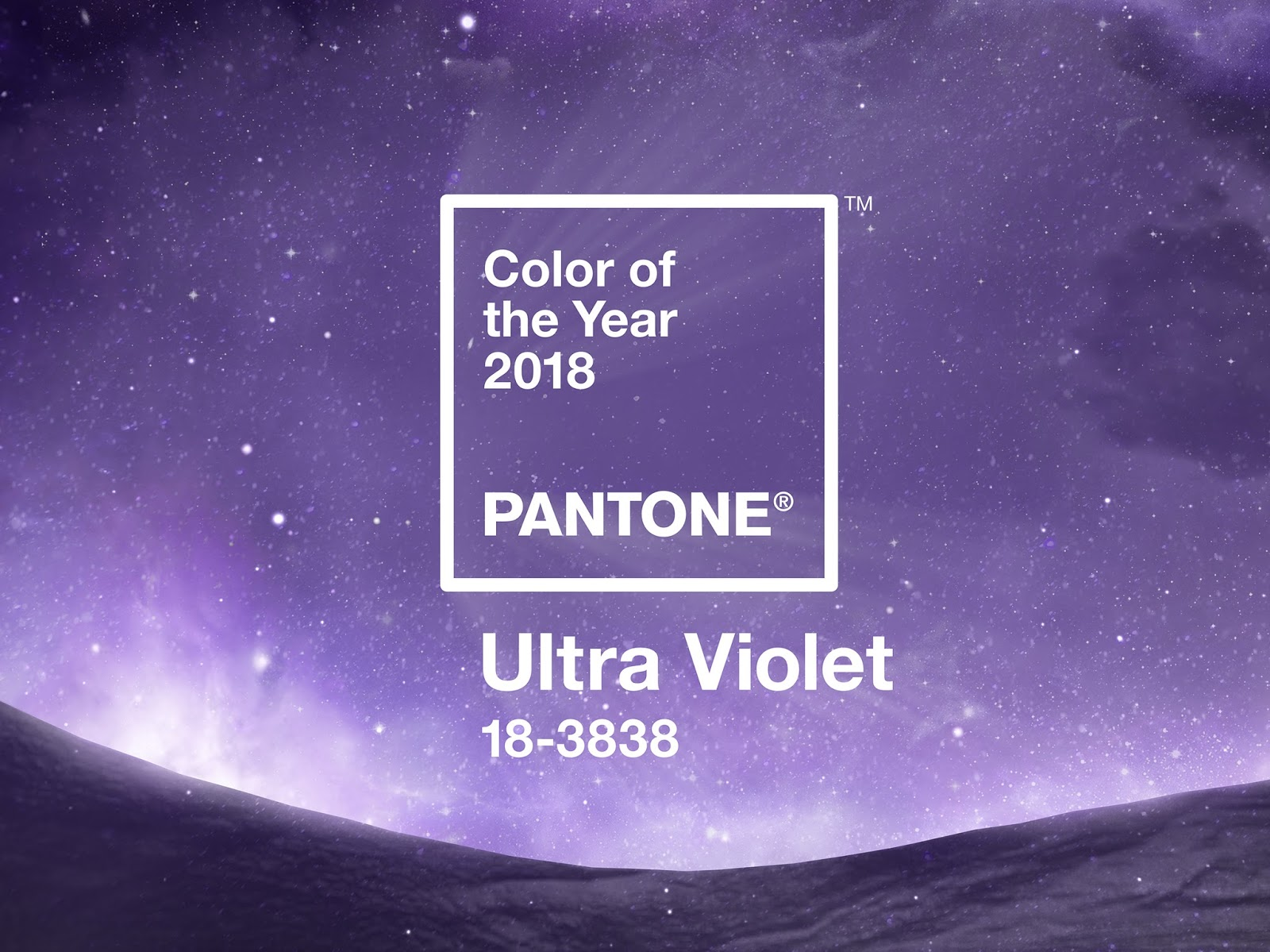 Image showing the colour ultra violet, the colour of the year for 2018 recommended by the Pantone Institute