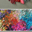 Textile Sculptures Created From Dozens of Multicolored Orbs