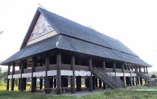 gambar rumah adat suku dayak