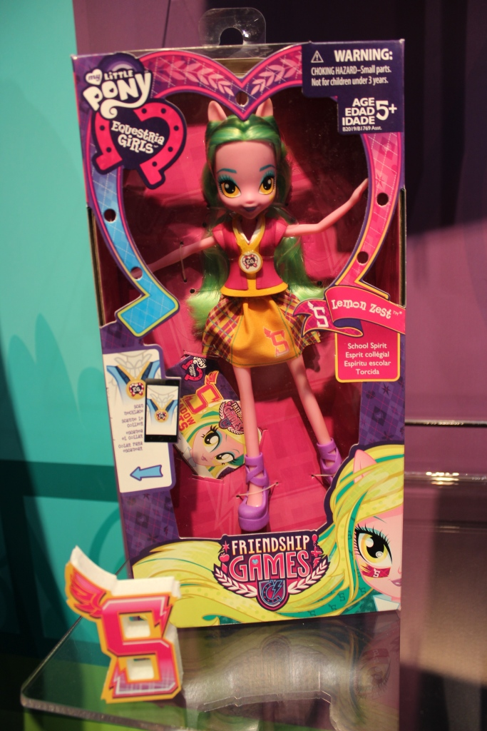 Equestria Girls: Friendship Games Lemon Zest School Spirit Doll at NY Toy Fair 2015