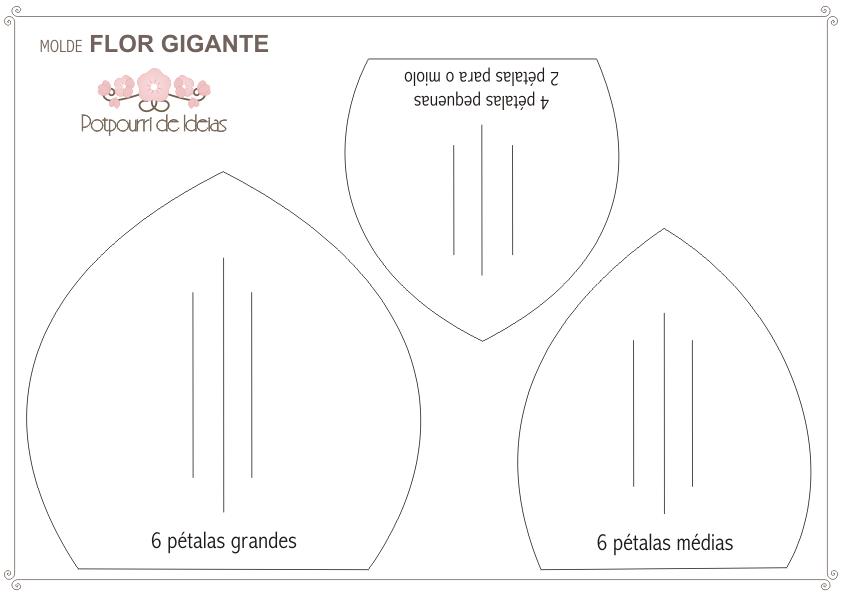 Potpourri De Ideias Molde Flor Gigante De Crepom Italiano