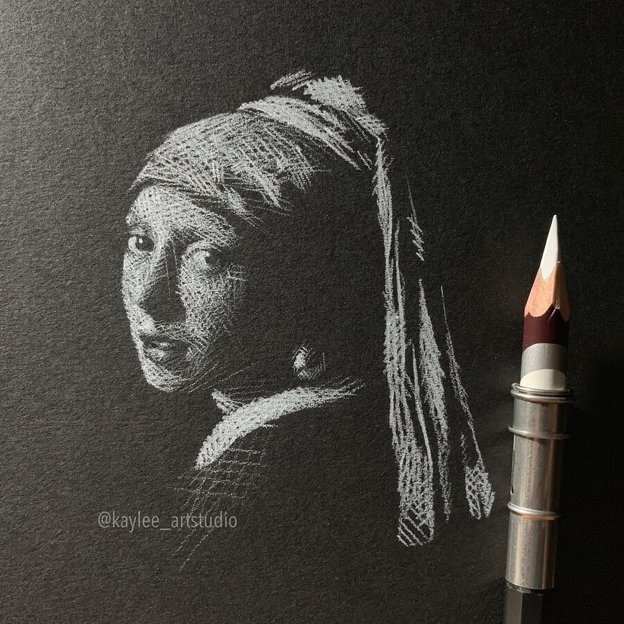 04-Girl-with-a-Pearl-Earring-Johannes-Vermeer-Kay-Lee-Drawings-www-designstack-co