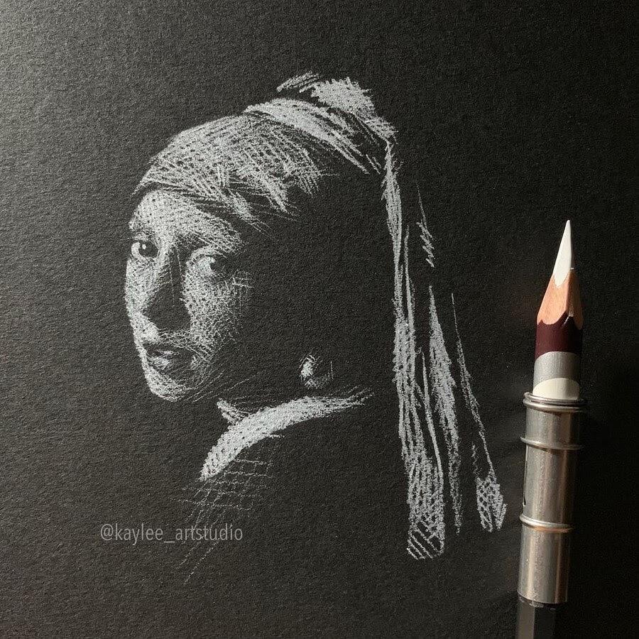 04-Girl-with-a-Pearl-Earring-Johannes-Vermeer-Kay-Lee-Drawings-www-designstack-co