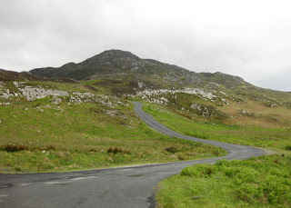 Looking back up the road to Mamore Gap from the north, Ireland
