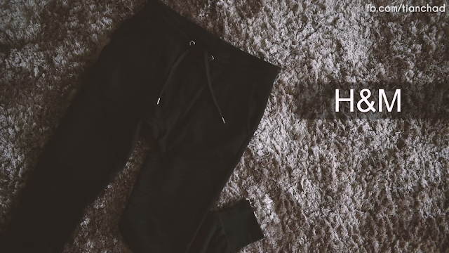 Black skinny fit sweater pant from H&M Sunway Pyramid