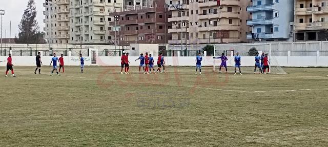 مشهد من المباراة