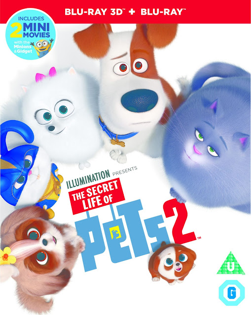 The Secret Life Of Pets 2 Blu-ray cover photo showing animated dogs smiling