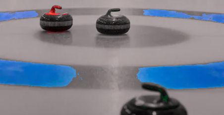 """Curlingin """"pesä"""" eli maalialue."""