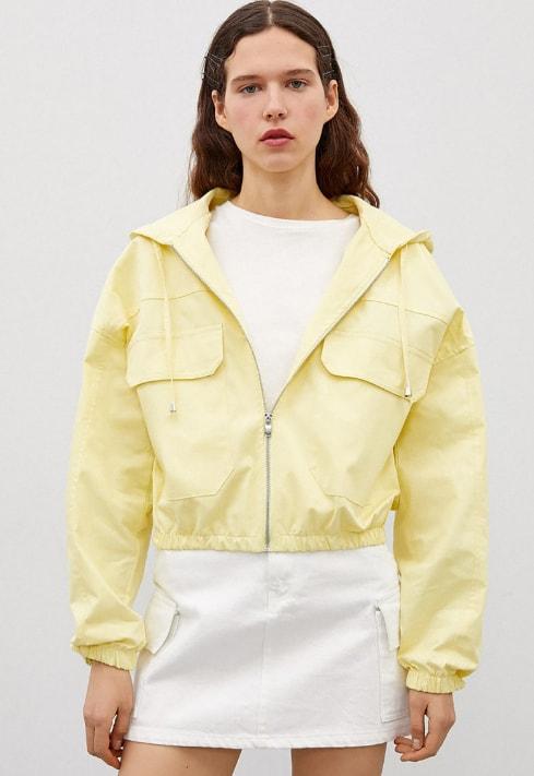 Jacheta usoara de dama pentru primavara galbena