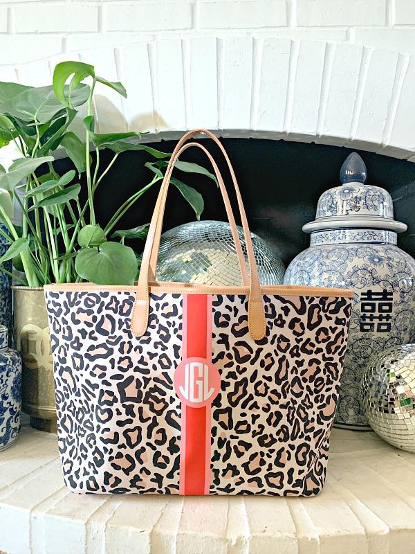 labor day sales, barrington bags, custom monogrammed tote bag