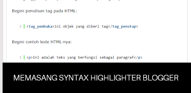 syntax highlighter blogger
