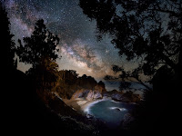 Milky Way Galaxy over Big Sur coast