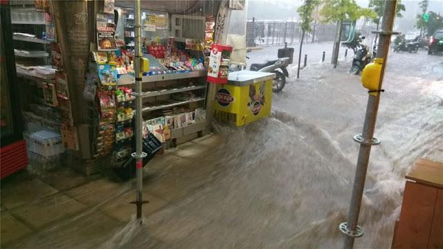 ΣΟΚ στην Θεσσαλονίκη: Παρασύρθηκαν άτομα από την καταιγίδα… με βροχή και χαλαζόπτωση (ΦΩΤΟ)