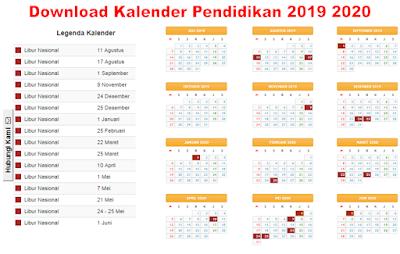 Download Kalender Pendidikan Sd Smp Sma Dan Smk 2019 2020 Www Kemendikbud Com Kampus Pendidikan