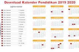 Download Kalender Pendidikan SD SMP SMA dan SMK 2019 2020. www.kemendikbud.co.id