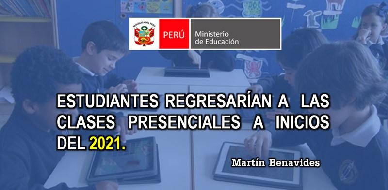 reinicio de las clases presenciales el 2021