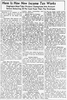 Here Is How New Income Tax Works - Source: Washington Evening Star, 3 June 1943 - https://chroniclingamerica.loc.gov/lccn/sn83045462/1943-06-03/ed-1/seq-4/