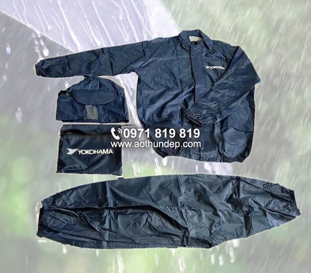 Thiết kế in áo mưa giá rẻ logo công ty