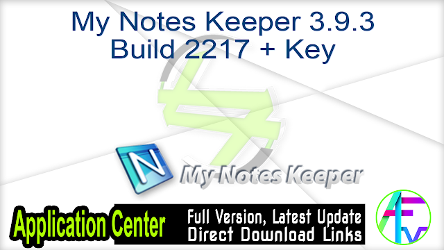 My Notes Keeper 3.9.3 Build 2217 + Key
