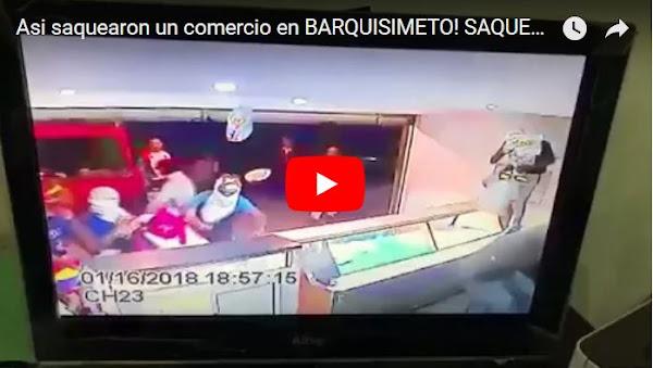 Así saquearon un local comercial en Barquisimeto