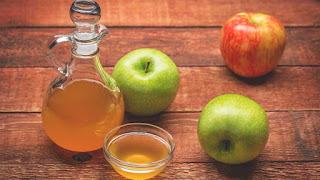cuka apel untuk rambut