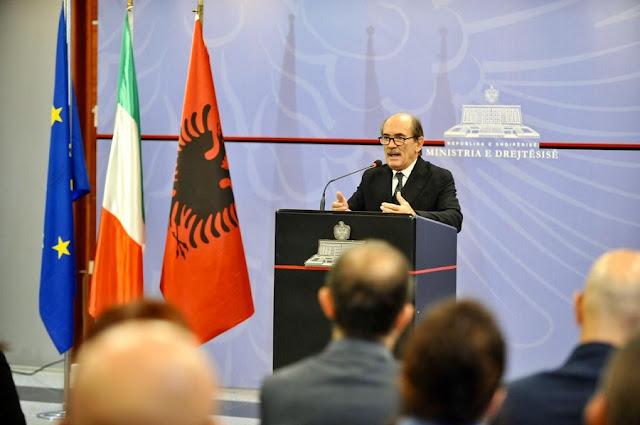 Visit of the Italian anti-Mafia prosecutor to Tirana Federico Cafiero De Raho to discuss the 41-bis regime