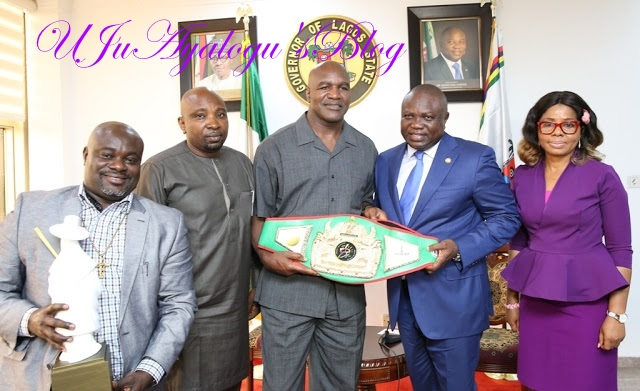 Evander Holyfield donates $3m health equipment to Lagos State