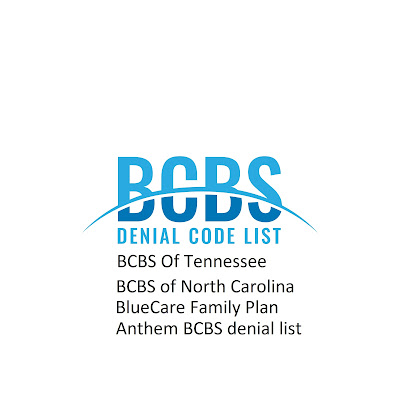 BCBS denial code list