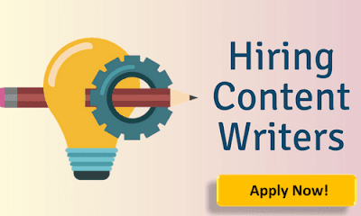 Content Writers Required: Apply Now