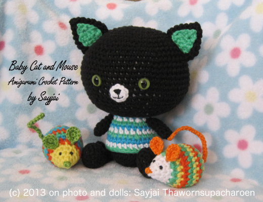 baby katze und maus anleitung amigurumi h kelanleitungen von k and j dolls. Black Bedroom Furniture Sets. Home Design Ideas